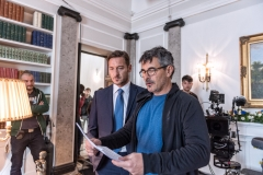 Francesco Totti con il regista Paolo Genovese